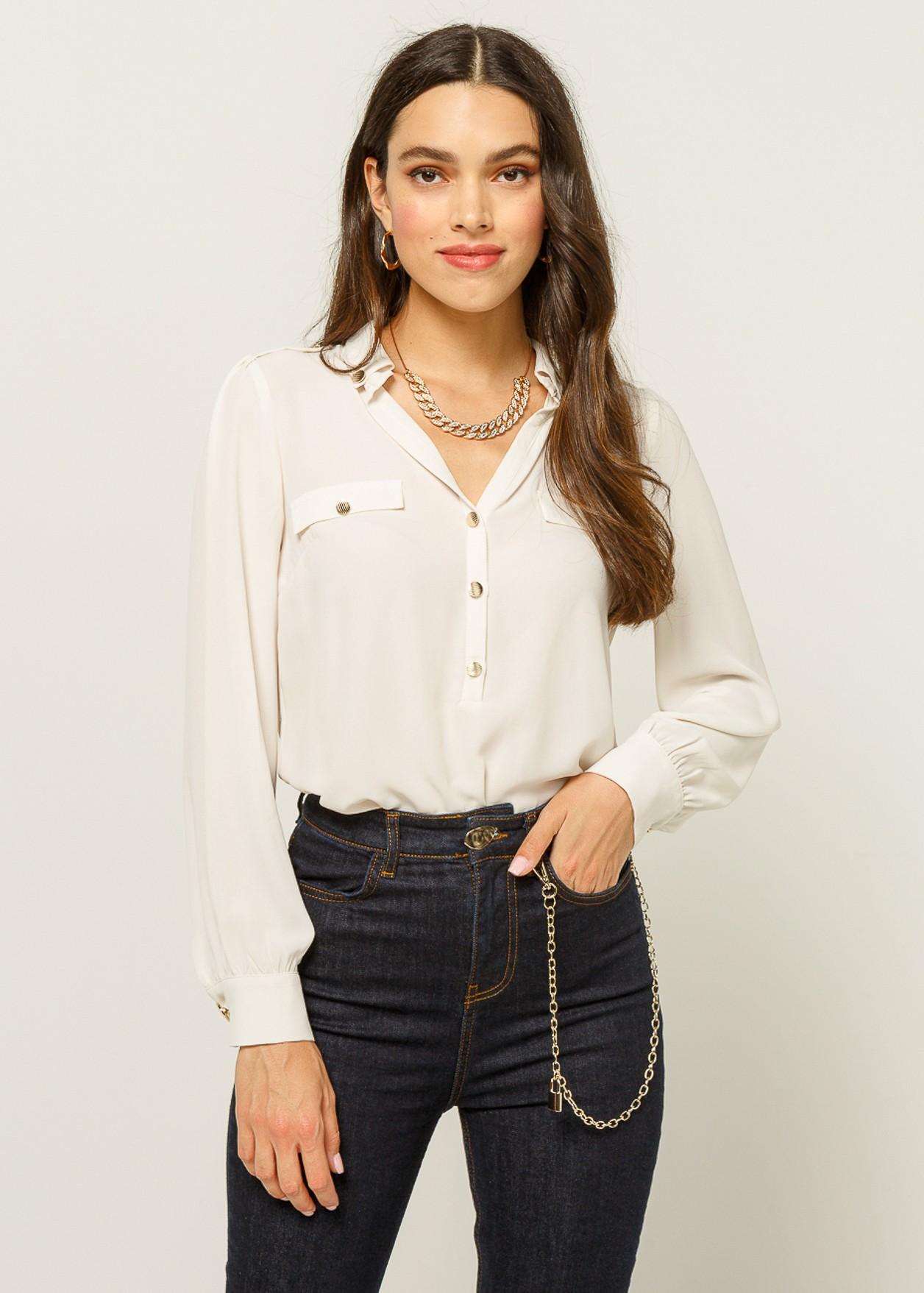 Μπλούζα με γιακά