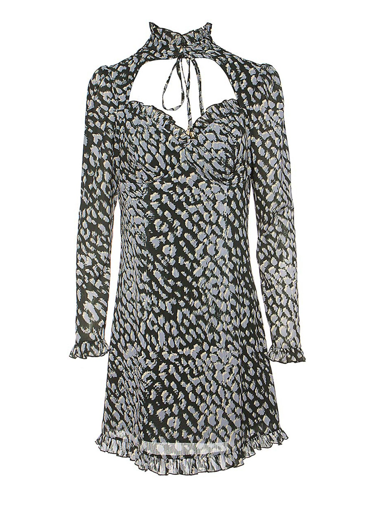 Mini dress with sweetheart neckline