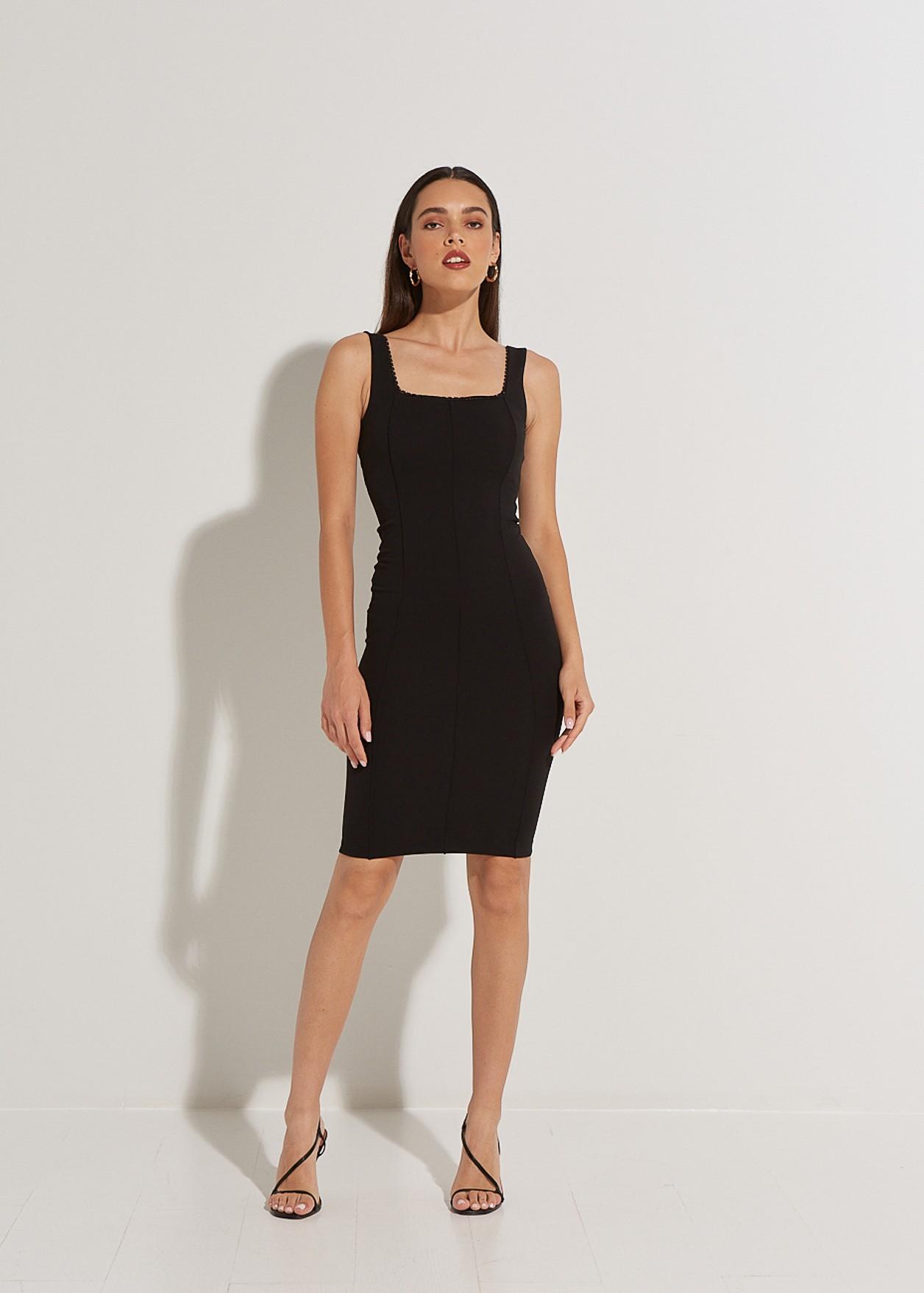 Μίντι εφαρμοστό φόρεμα